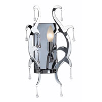Kenroy Lighting Winter 1 Light Sconce in Chrome  with Glass Drops  91825CH photo thumbnail
