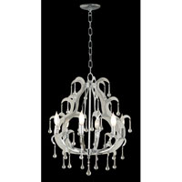 Kenroy Lighting Winter 6 Light Chandelier in Chrome  with Glass Drops  91826CH photo thumbnail