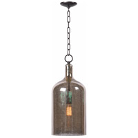 Capri 1 Light 10 inch Antique Mercury/Oil Rubbed Bronze Pendant Ceiling Light in Glass