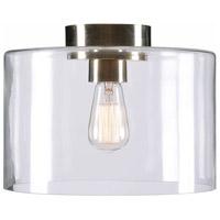 Kenroy Lighting 91836AB Capri 1 Light 14 inch Antique Brass Flush Mount Ceiling Light Small