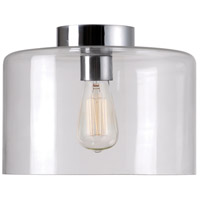 Capri 1 Light 14 inch Clear Flush Mount Ceiling Light