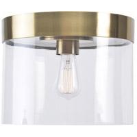 Kenroy Lighting 91837AB Capri 1 Light 14 inch Antique Brass Flush Mount Ceiling Light Full
