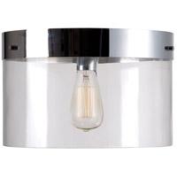 Kenroy Lighting 91837CLR Capri 1 Light 14 inch Clear Flush Mount Ceiling Light