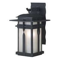 Kenroy Lighting Carrington 1 Light Outdoor Lantern in Black   91901BL