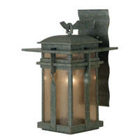 Carrington 1 Light 14 inch Rust Outdoor Wall Lantern