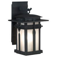 Carrington 1 Light 12 inch Black Wall Lantern Wall Light