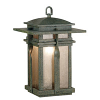 Kenroy Lighting Carrington 1 Light Outdoor Hanging Lantern in Rust   91904RST