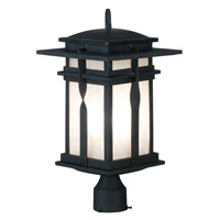 Kenroy Lighting Carrington 1 Light Outdoor Post Lantern in Black   91905BL