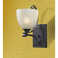 Kenroy Lighting Willoughby 1 Light Sconce in Forged Graphite   91911FGRPH