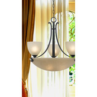Kenroy Lighting Willoughby 6 Light Chandelier in Forged Graphite   91914FGRPH