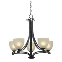 Willoughby 5 Light 26 inch Forged Graphite Chandelier Ceiling Light