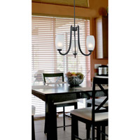 Kenroy Lighting Mirage 3 Light Chandelier in Forged Graphite   91922FGRPH
