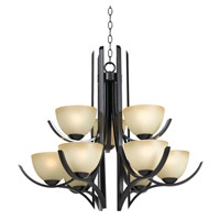 Kenroy Lighting Cypress 9 Light Chandelier in Oil Rubbed Bronze   91959ORB