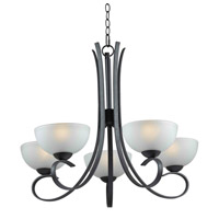 Kenroy Lighting Maple 5 Light Chandelier in Forged Graphite   91965FGRPH photo thumbnail