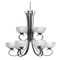 Maple 9 Light 33 inch Forged Graphie Chandelier Ceiling Light