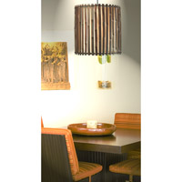 Kenroy Lighting Grove 1 Light Pendant in Dark Split Bamboo 92034BRZ