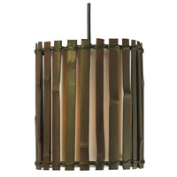 Kenroy Lighting Grove 1 Light Mini Pendant in Dark Split Bamboo 92037BRZ