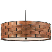 Kenroy Lighting Shaker 3 Light Pendant in Dark Woven Wood 92038DWW