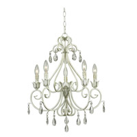 Chamberlain 5 Light 21 inch Weathered White Chandelier Ceiling Light