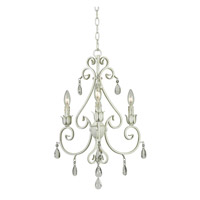 Chamberlain 3 Light 18 inch Weathered White Chandelier Ceiling Light
