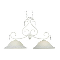 Kenroy Lighting Chamberlain 2 Light Island Light in Weathered White 92048WW