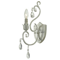 Kenroy Lighting Chamberlain 1 Light Sconce in Weathered White 92049WW