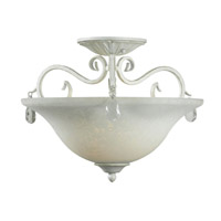 Kenroy Lighting Chamberlain 2 Light Semi Flush in Weathered White 92052WW