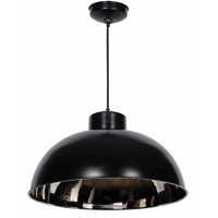Kenroy Lighting 92062BLNIK Domus 1 Light 25 inch Black and Nickel Pendant Ceiling Light