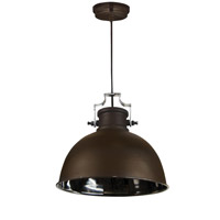 Kenroy Lighting Nautilus 1 Light Pendant in Antique Bronze and Nickel 92065ABZNIK
