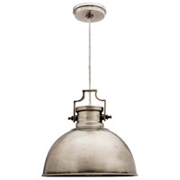 Kenroy Lighting Nautilus 1 Light Pendant in Antique Nickel 92065ANI