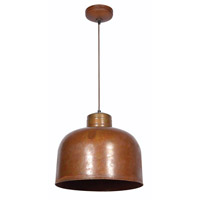 Kenroy Lighting 92071RST Chambers 1 Light 15 inch Rust Pendant Ceiling Light