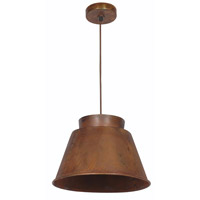 Kenroy Lighting 92088RST Metalsmith 1 Light 15 inch Rust Pendant Ceiling Light
