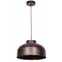 Detail 1 Light 16 inch Copper Pendant Ceiling Light