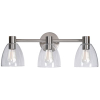 Kenroy Lighting 92093BS Edis 3 Light 25 inch Brushed Steel Vanity Light Wall Light