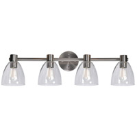 Kenroy Lighting 92094BS Edis 4 Light 36 inch Brushed Steel Vanity Light Wall Light