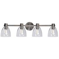 Kenroy Lighting 92094BS Edis 4 Light 36 inch Brushed Steel Vanity Light Wall Light