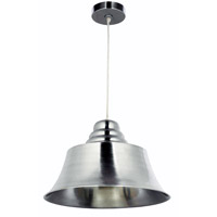 Kenroy Lighting 92095BS Spinnaker 1 Light 18 inch Brushed Steel Pendant Ceiling Light