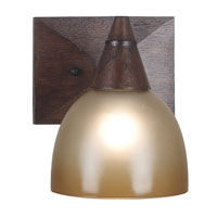 Kenroy Lighting Kyoto 1 Light Sconce in Dark Oak   92110DO