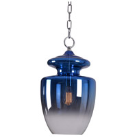 Kenroy Lighting 93037BLU Apothecary 1 Light 14 inch Blue Pendant Ceiling Light