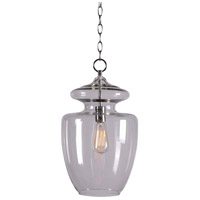 Kenroy Lighting 93037CLR Apothecary 1 Light 14 inch Chrome Pendant Ceiling Light in Clear Glass