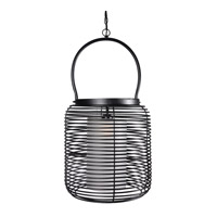 Kenroy Lighting Foundry 1 Light Pendant in Black 93047BL