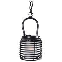 Kenroy Lighting Foundry 1 Light Mini Pendant in Black 93048BL