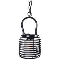 Kenroy Lighting 93048BL Foundry 1 Light 11 inch Black Mini Pendant Ceiling Light