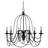 Pannier 6 Light 27 inch Oil Rubbed Bronze/Silver Chandelier Ceiling Light