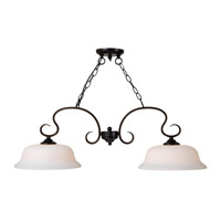 Kenroy Lighting Basket 2 Light Island Light in Oil Rubbed Bronze 93112ORB