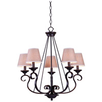 Basket 5 Light 25 inch Oil Rubbed Bronze Chandelier Ceiling Light