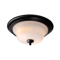 Basket 2 Light 16 inch Oil Rubbed Bronze Flush Mount Ceiling Light