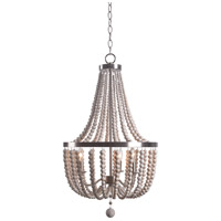 Kenroy Lighting 93131BS Dumas 3 Light 17 inch Brushed Steel Chandelier Ceiling Light