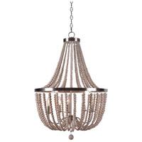 Kenroy Lighting 93132BS Dumas 5 Light 26 inch Brushed Steel Chandelier Ceiling Light