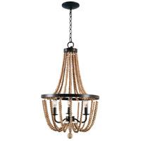 Kenroy Lighting 93133GBRZ Regas 3 Light 17 inch Golden Bronze Chandelier Ceiling Light